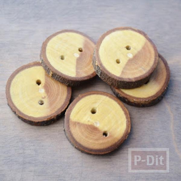รูป 2 ทำกระดุม จากกิ่งไม้