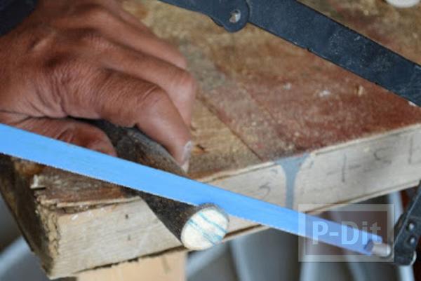 รูป 3 ทำกระดุม จากกิ่งไม้