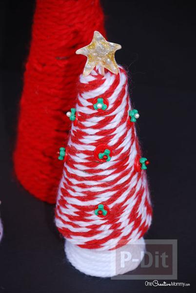 รูป 4 ต้นคริสต์มาส ทำเองสวยๆ จากไหมพรม
