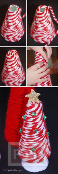 รูป 6 ต้นคริสต์มาส ทำเองสวยๆ จากไหมพรม