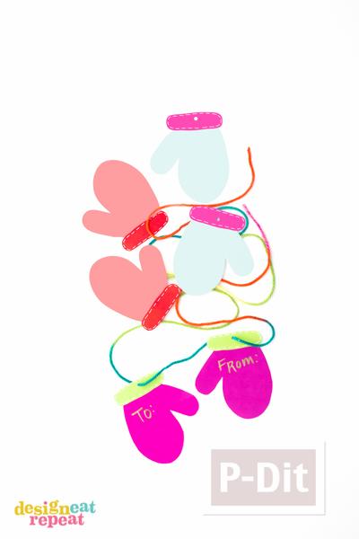 รูป 2 ห่อกล่องของขวัญ สวยๆ ประดับถุงมือกระดาษ