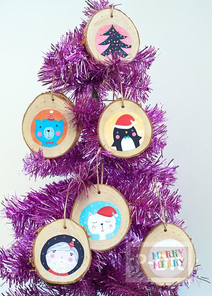 รูป 2 ของตกแต่งต้นคริสต์มาสสวยๆ ทำจากกิ่งไม้ ประดับรูป