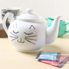 กาน้ำชา ลายแมวเหมียว วาดเอง น่ารักๆ