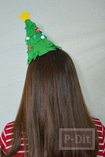 หมวกต้นคริสต์มาส สวยๆ ประดับลายง่ายๆ