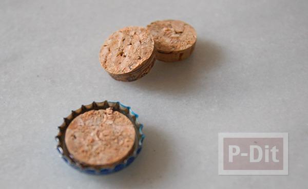 รูป 3 เข็มกลัด ทำจากฝาน้ำอัดลม