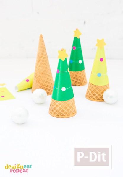 กระดาษประดับโคนไอศกรีมสวยๆ ลายน่ารักๆ