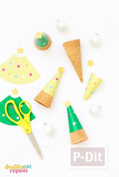 รูป 2 กระดาษประดับโคนไอศกรีมสวยๆ ลายน่ารักๆ