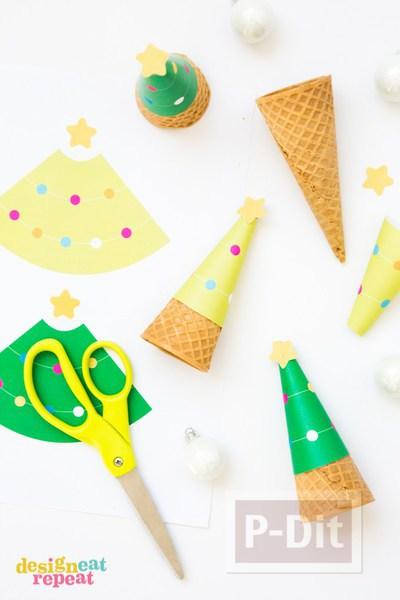 รูป 3 กระดาษประดับโคนไอศกรีมสวยๆ ลายน่ารักๆ