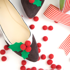 ตกแต่งรองเท้า ใส่งานปาร์ตี้ คริสต์มาส