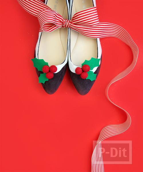 รูป 2 ตกแต่งรองเท้า ใส่งานปาร์ตี้ คริสต์มาส
