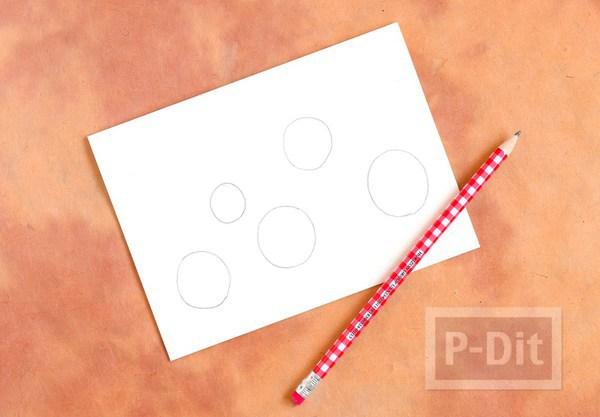 รูป 6 การ์ดคริสต์มาส ลายหลอดไฟ สีสดใส