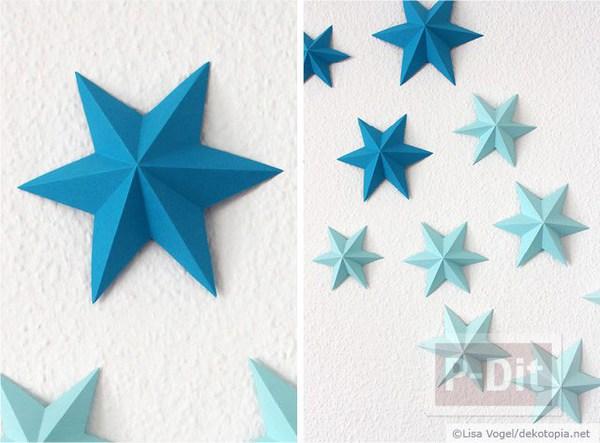 รูป 2 พับกระดาษรูปดาว สวยๆ ประดับบ้านงานปาร์ตี้