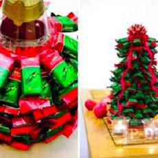 ต้นคริสต์มาส ทำจากซองขนม