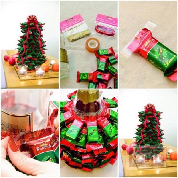 รูป 2 ต้นคริสต์มาส ทำจากซองขนม