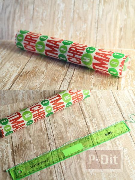 รูป 5 ห่อของขวัญวันปีใหม่ ใช้แกนกระดาษทิชชู
