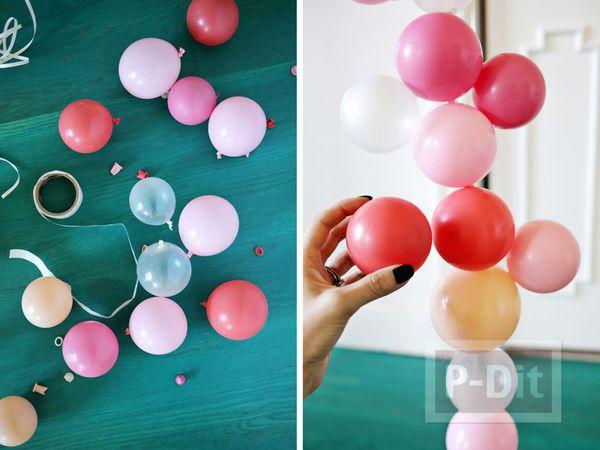 รูป 4 ลูกโป่ง ประดับสีสดใส สวยๆประดับบ้าน