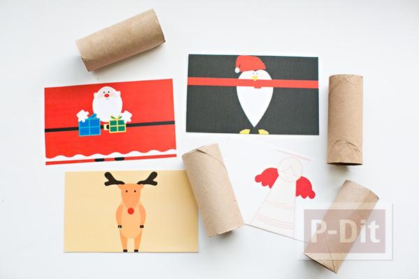 รูป 3 ของตกแต่งบ้านวันปาร์ตี้ ทำจากแกนกระดาษทิชชู