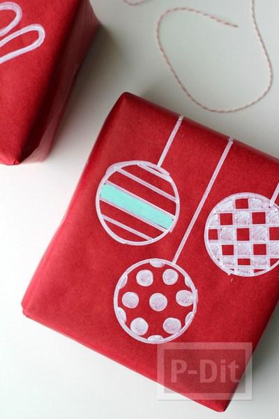 รูป 2 ห่อกล่องของขวัญ ตกแต่งวาดลายน่ารักๆ