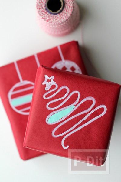 รูป 3 ห่อกล่องของขวัญ ตกแต่งวาดลายน่ารักๆ