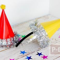 หมวกปาร์ตี้สีสวย ประดับที่คาดผม
