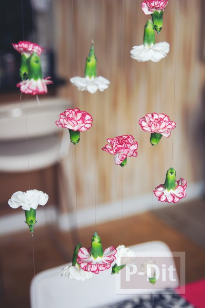 ตกแต่งบ้าน ดอกไม้สด สีสวย