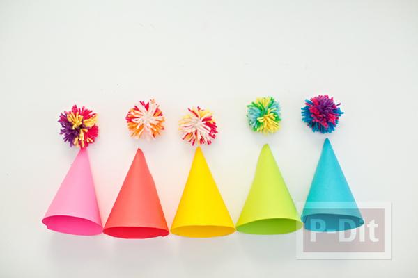 รูป 4 สอนทำหมวกกระดาษสีสด สวยๆ
