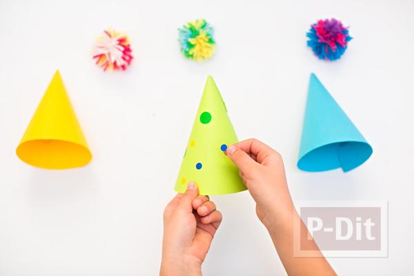รูป 5 สอนทำหมวกกระดาษสีสด สวยๆ