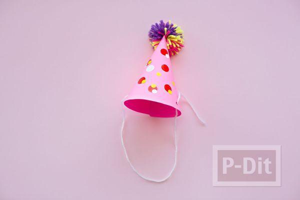 รูป 6 สอนทำหมวกกระดาษสีสด สวยๆ