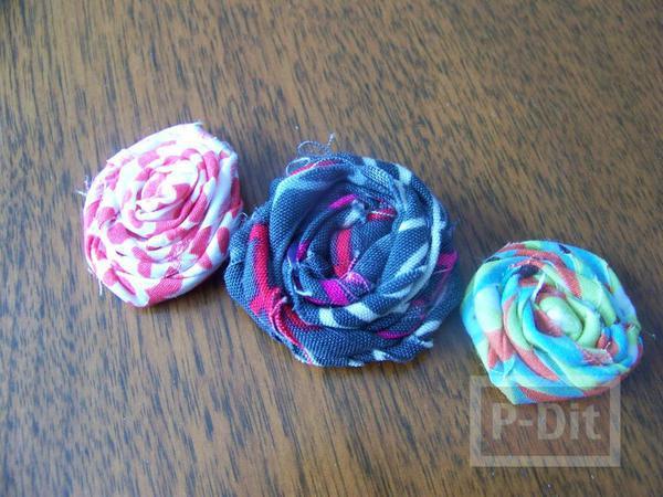 รูป 7 ทำที่คาดผม ประดับดอกไม้ผ้า