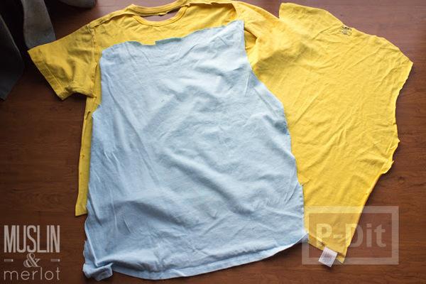 รูป 2 สอนทำถุงมือทำความสะอาด จากเสื้อยืดเก่าๆ