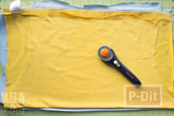 รูป 3 สอนทำถุงมือทำความสะอาด จากเสื้อยืดเก่าๆ