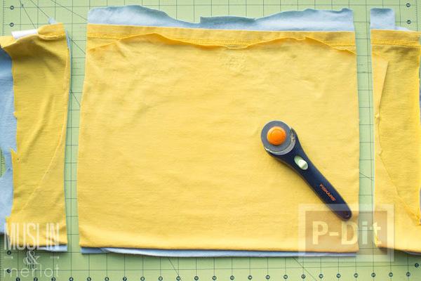รูป 4 สอนทำถุงมือทำความสะอาด จากเสื้อยืดเก่าๆ