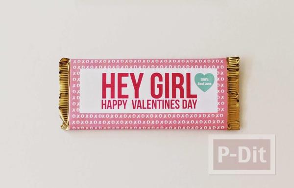 รูป 6 ช็อคโกแลตน่ากิน ห่อกระดาษสีสวย ลายน่ารักๆ