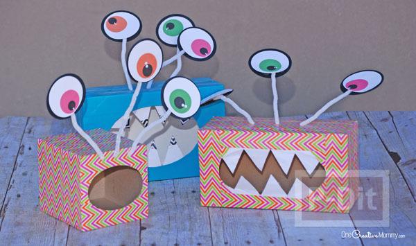Monster ทำจากกล่องกระดาษทิชชู เก่าๆ