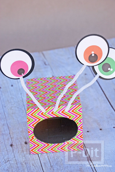 รูป 2 Monster ทำจากกล่องกระดาษทิชชู เก่าๆ