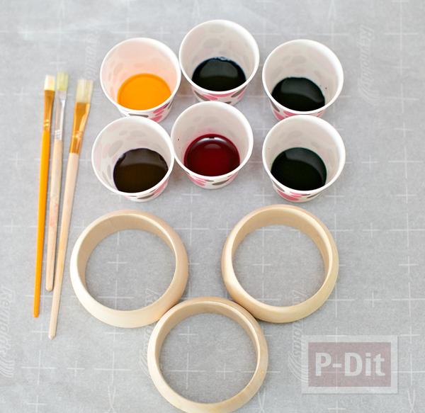 รูป 5 กำไลข้อมือ ทาสีสวย ทำเอง