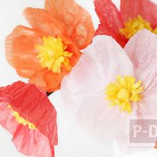 ดอกไม้กระดาษ สีสวย ประดับแจกัน