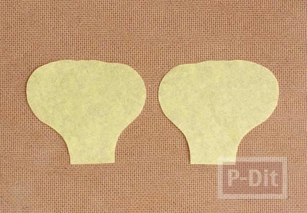 รูป 3 ดอกไม้กระดาษ สีสวย ประดับแจกัน