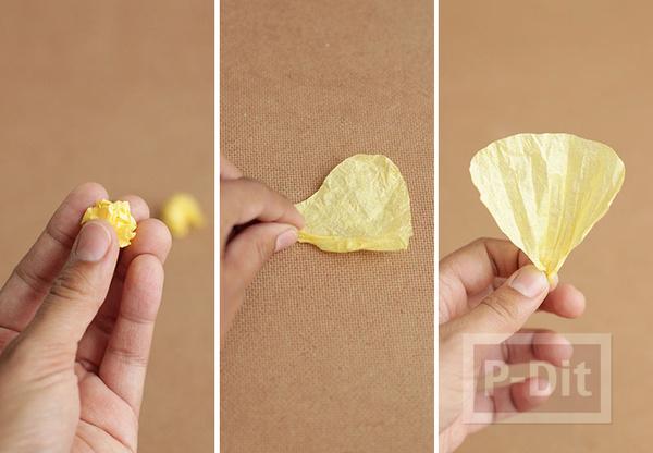 รูป 4 ดอกไม้กระดาษ สีสวย ประดับแจกัน