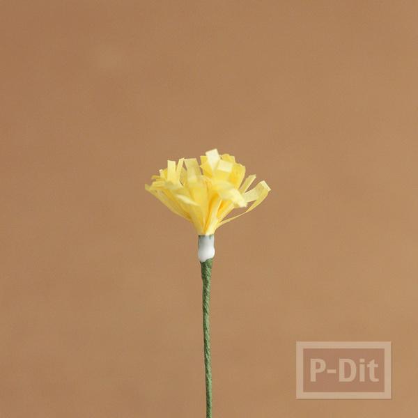 รูป 5 ดอกไม้กระดาษ สีสวย ประดับแจกัน