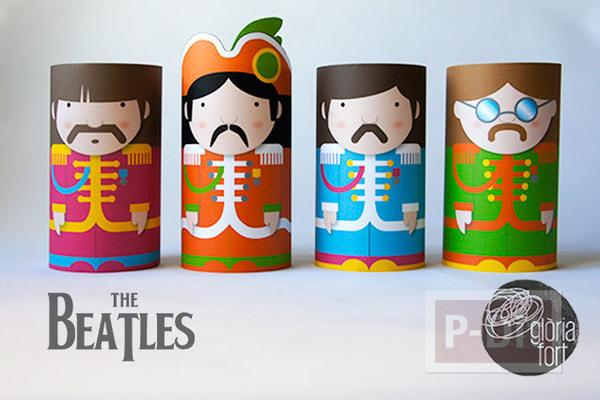 แกนกระดาษทิชชู ลาย The beatles