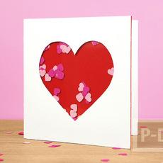 สอนทำการ์ด รูปหัวใจ น่ารักๆ