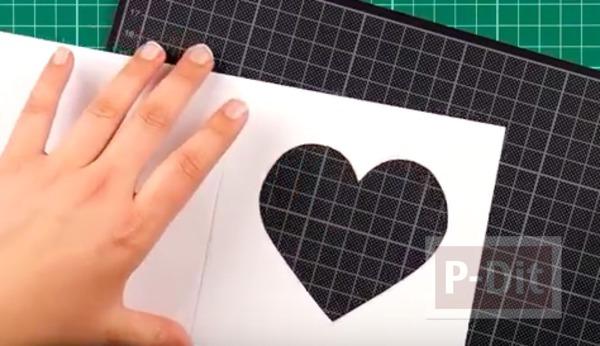 รูป 4 สอนทำการ์ด รูปหัวใจ น่ารักๆ