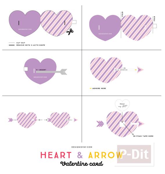 รูป 4 การ์ดวาเลนไทน์ หัวใจเสียบลูกธนู