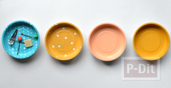 รูป 1 ตกแต่งผนังบ้าน ด้วยจานสังกะสี ทาสีสวย