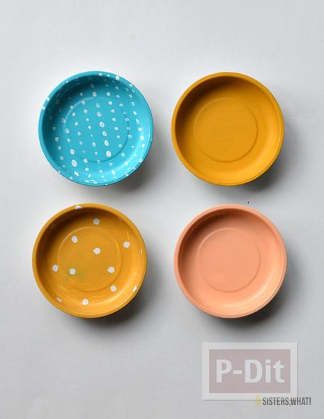 รูป 5 ตกแต่งผนังบ้าน ด้วยจานสังกะสี ทาสีสวย