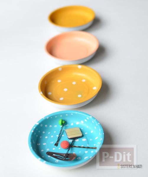 รูป 6 ตกแต่งผนังบ้าน ด้วยจานสังกะสี ทาสีสวย