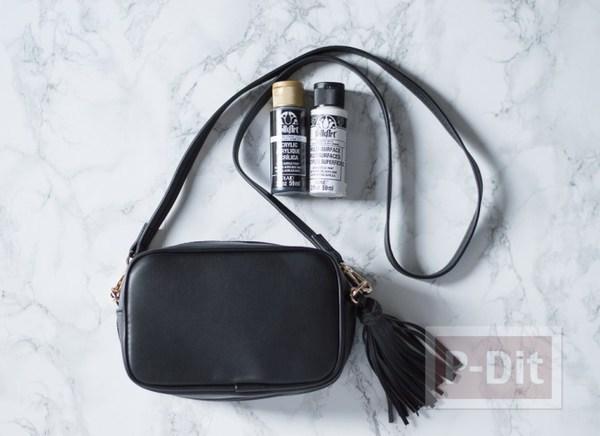 รูป 2 กระเป๋าสะพายสีดำ ระบายตากลมโต น่ารักๆ