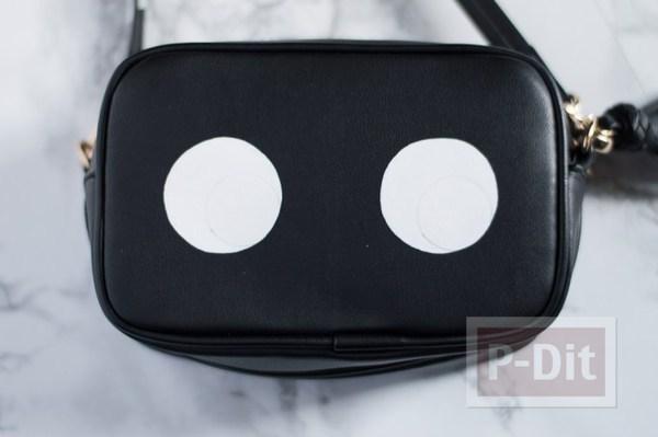 รูป 4 กระเป๋าสะพายสีดำ ระบายตากลมโต น่ารักๆ