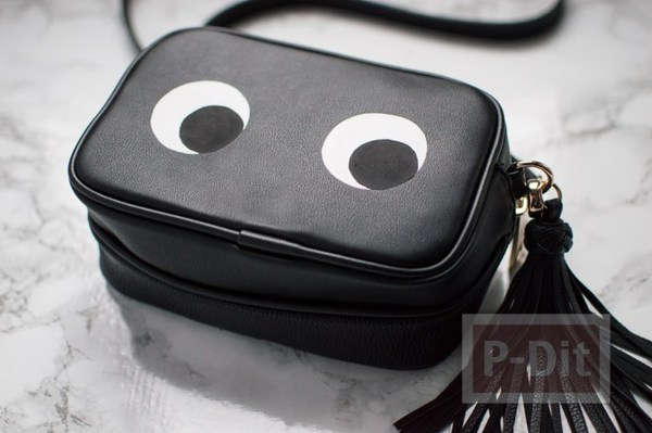 รูป 5 กระเป๋าสะพายสีดำ ระบายตากลมโต น่ารักๆ